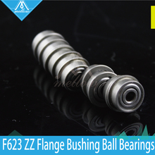 Buy 10pcs / lot 3D printer accessories parts F623 ZZ Flange Bushing Ball Bearings F623ZZ 3*10*4 mm pulley bearing guide wheel for $3.03 in AliExpress store