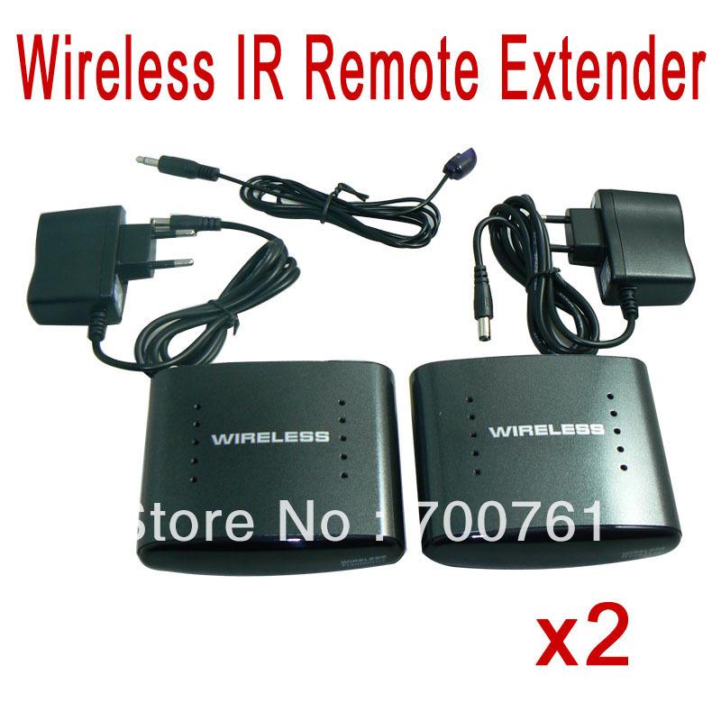 2pcs/lot 200m Wireless 2.4GHz IR Remote Extender for Receiver and Transmitter Re-Transmitter AV TV Audio Vedio Sender(China (Mainland))
