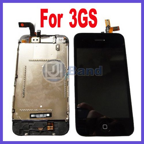 For iPhone 3Gs LCD Display Screen +Touch Sreen Dgitizer Free Shipping(China (Mainland))