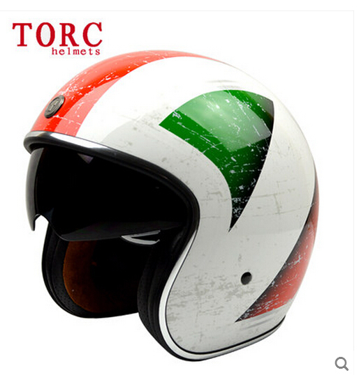 Genuine motorcycle helmet half helmet male and female fashion complex Guha Lei Prince helmet /Red, green and white(China (Mainland))