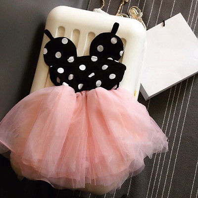 Baby girl dress fashion cute minnie mouse dresses kids clothes toddler