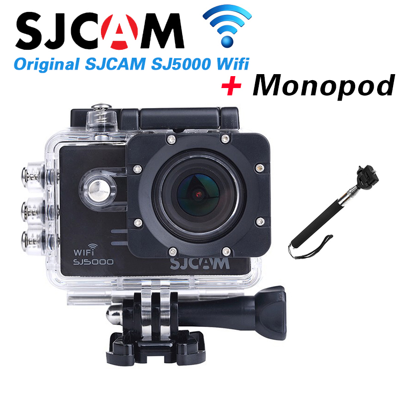 Original SJCAM SJ5000 WIFI Sport Action Camera Waterproof Novatek 96655 Full HD 1080P 14MP 170 degree wide-angle Camera+Monopod(China (Mainland))