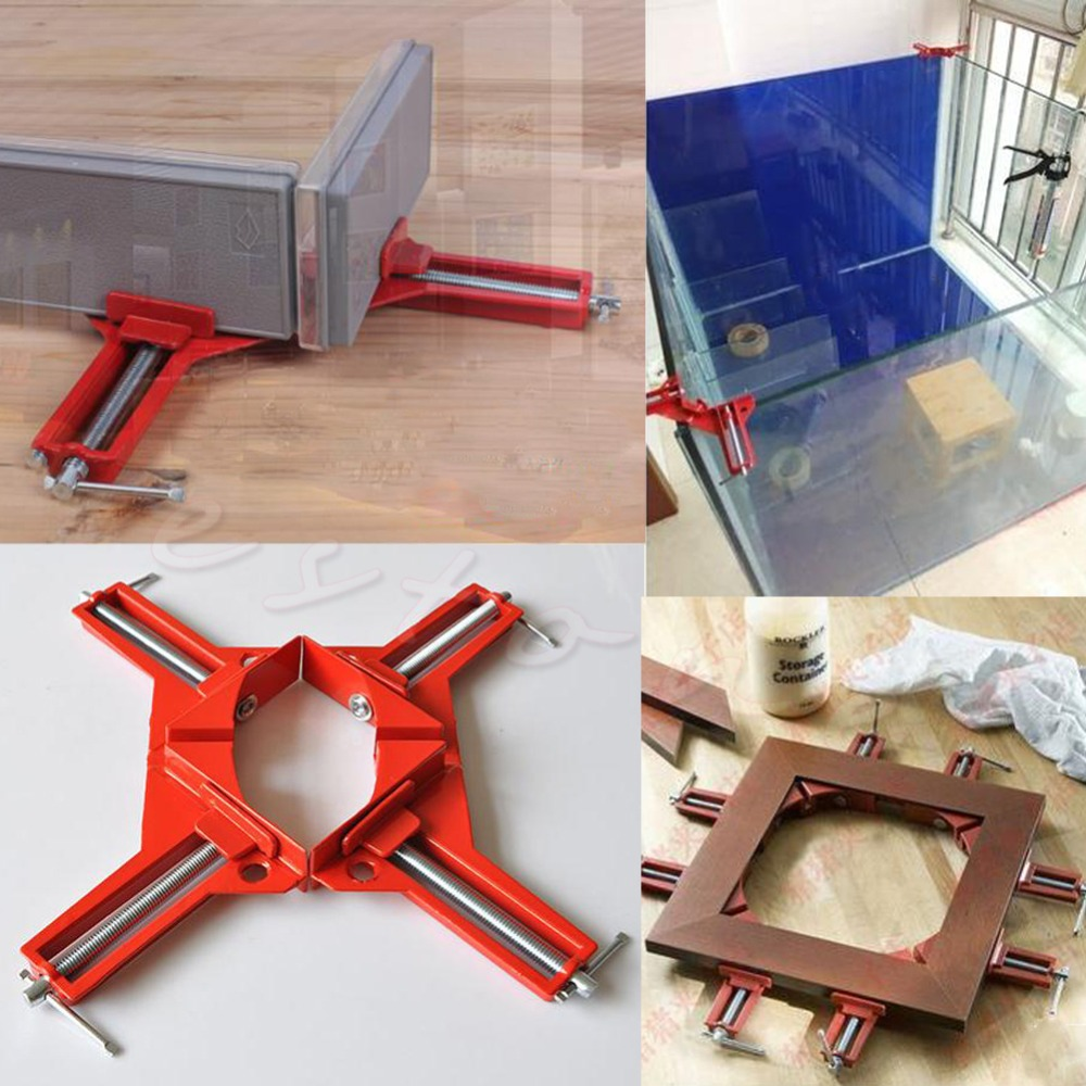 1 PC 90 Degree Right Angle Picture Frame Corner Clamp Holder Woodworking Hand Kit<br><br>Aliexpress