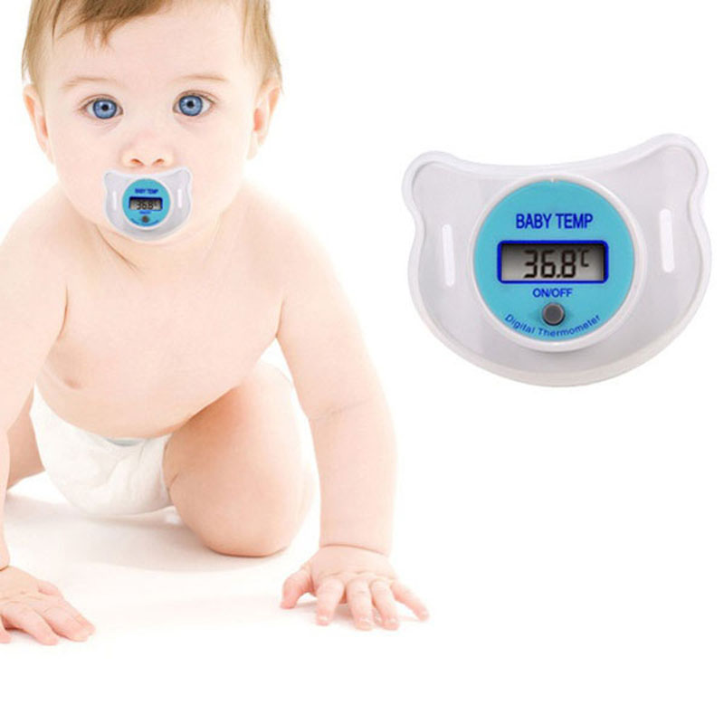 Digital LCD Pacifier Thermometer Baby Nipple Soft Safe Mouth Nipple Temperature Pacifier Chain Clip Holder VCI24 P20 0.5(China (Mainland))