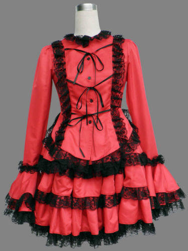 Girl Maid uniform Cosplay lolita Costume women black Dress custom - 91cosplay Store store