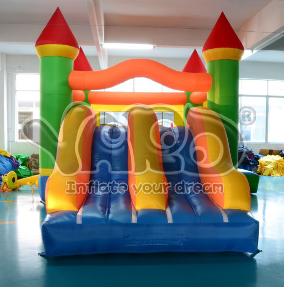 Commercial grade residential bounce house dual slide combo boouncy castle inflatable jumper moonwalk(China (Mainland))
