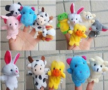 5000PCS equal to500 packsLot animal finger puppets cloth wool toy baby stories helper finger doll hand puppets children gift(China (Mainland))