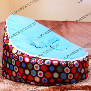 FREE SHIPPING baby bean bag cover with 2pcs sky blue cover baby bean bag kid's bean bag chair baby bean bags(China (Mainland))