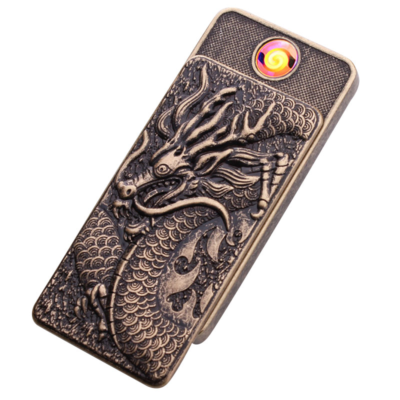 Hot Ultra-thin Metal Lighter USB Rechargeable Electronic Cigarette Lighter With Lock Down For Men's Creative Gift Home Products(China (Mainland))