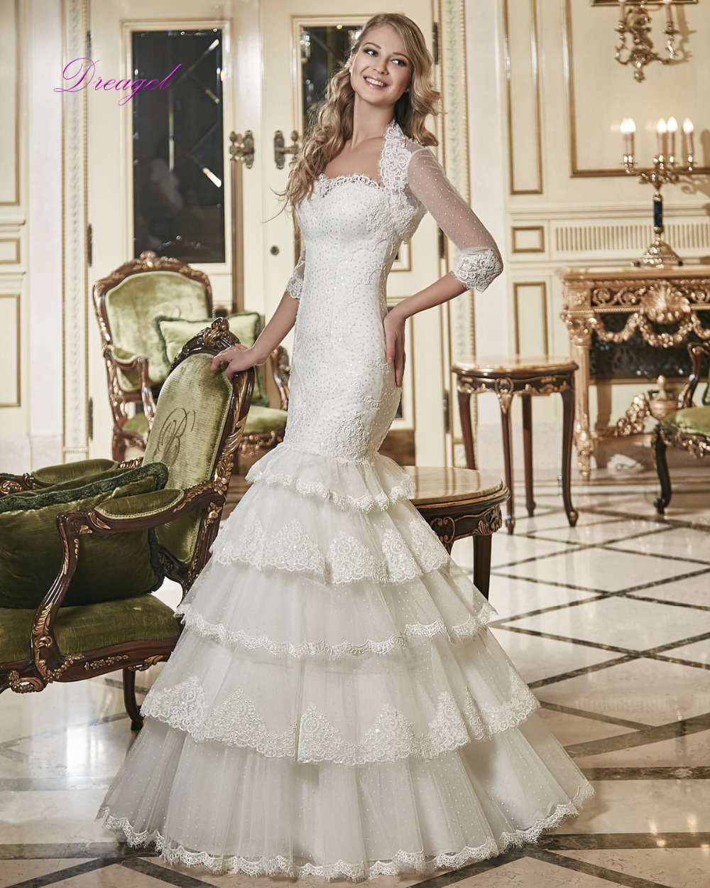 Elegant 2 Piece Wedding Dresses : Buy wholesale piece wedding dress from china