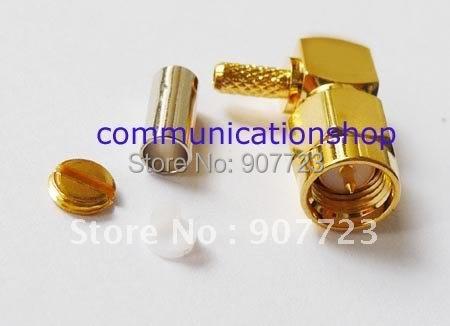10pcs SMA male right angle crimp RG174 RG316 connector<br><br>Aliexpress