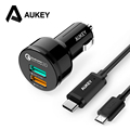 AUKEY Quick Charge 2 0 Universal Dual USB Fast Car Charger Adapter For Mobile Phones iPhone