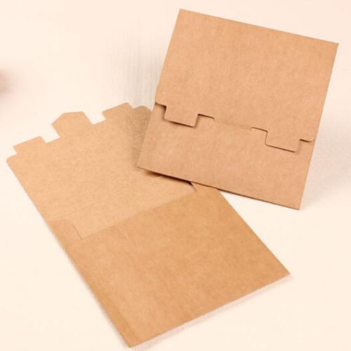 5 13*13cm Single Pieces Kraft Paper CD / DVD Sleeve Retail Package Pack Bags Packaging Packing