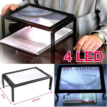 High quality Giant Large Hands Free Magnifying Glass With Light LED Magnifier For Reading etc(China (Mainland))