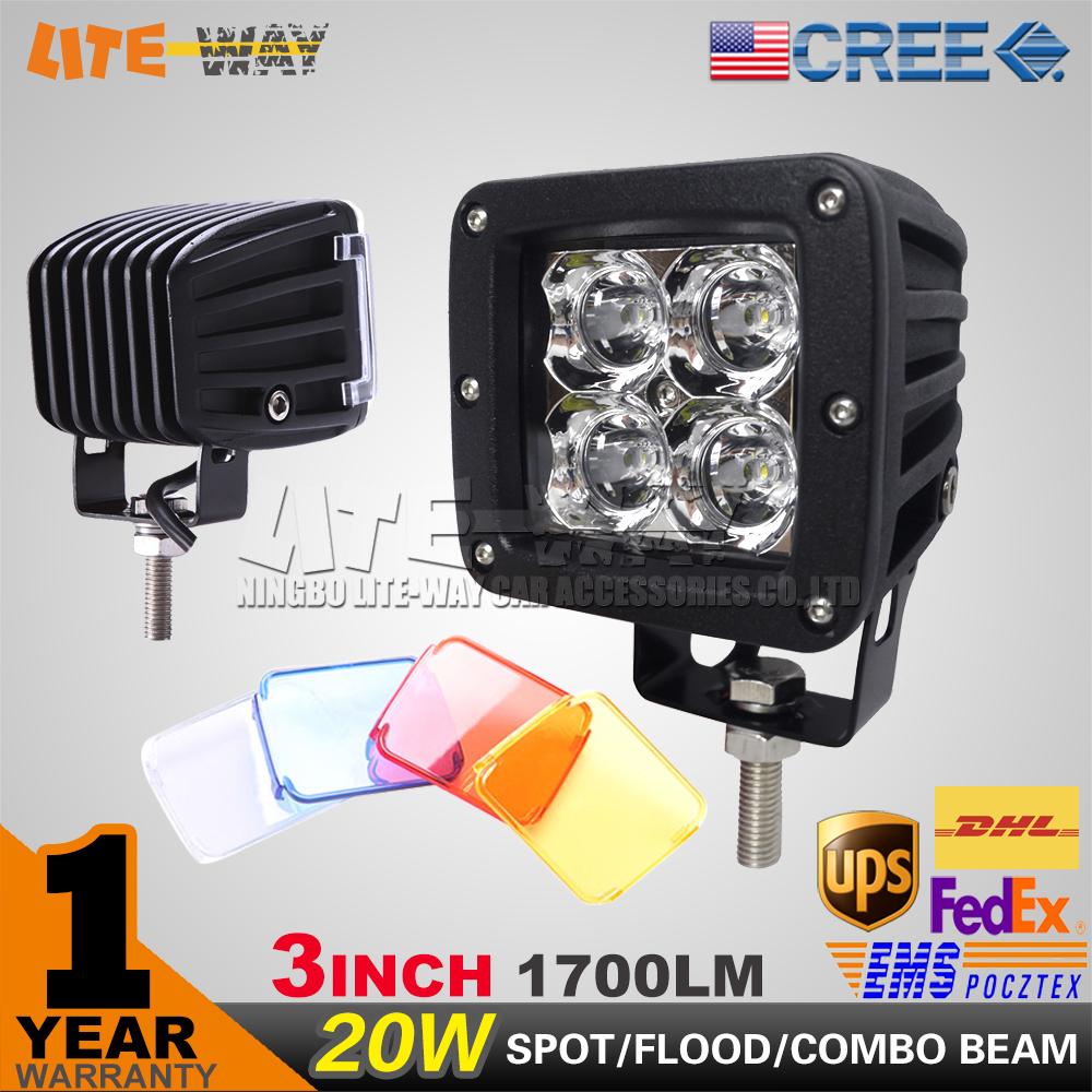 3INCH 20W CREE LIGHT LED WORK / FOG LIGHT SPOT / FLOOD/ COMBO BEAM CUBE LIGHT POD LIGHT FOR OFF ROAD USE(China (Mainland))