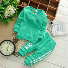 0-2Y cotton newborn baby boy clothes baby girl clothing set suit toddler bodysuits products for children sport 2015 spring(China (Mainland))