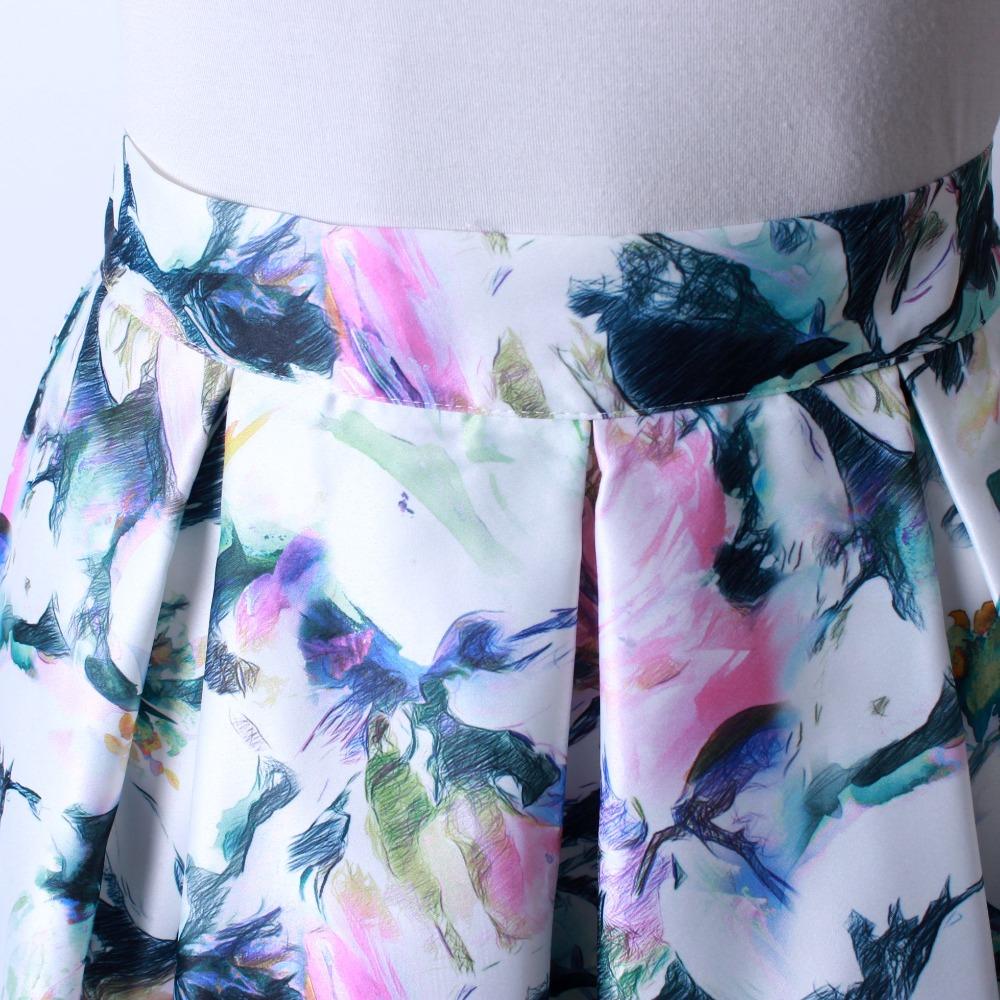 HTB1MsCxQFXXXXa1XpXXq6xXFXXXc - GOKIC 2017 Summer Women Vintage Retro Satin Floral Pleated Skirts Audrey Hepburn Style High Waist A-Line tutu Midi Skirt