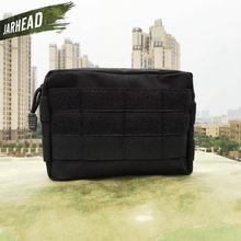 Тактическая Сумка Molle, нейлоновая черная тактическая сумка, большой органайзер для журналов, универсальный телефон, сумка для медного ремня...(China)