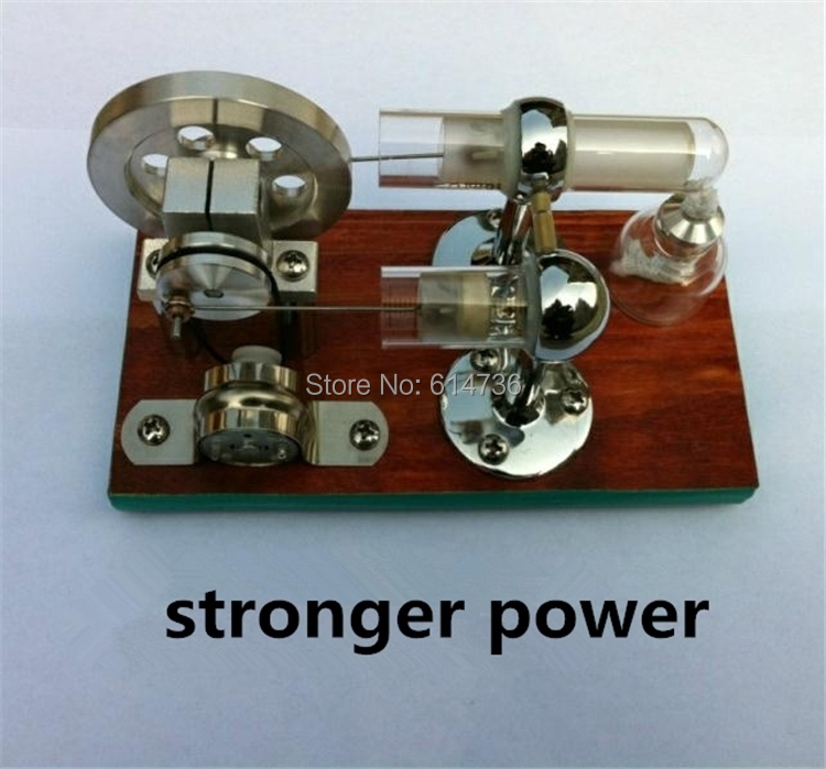Stronger Power Stirling Engine Model Hot Air High Temperature Stirling Engine Motor Generator Education Toy Kits With LED(China (Mainland))