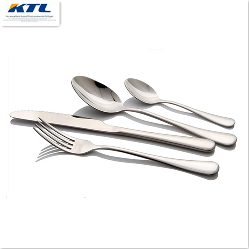 24 pcs western food dinnerware set top quality stainless steel Dinner knife and fork and spoon teaspoon cutlery set(China (Mainland))