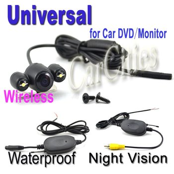 Wireless Parking camera For Car DVD/Monitor Shockproof Night visio Waterproof Pixels:652*492 mm auto parking camera