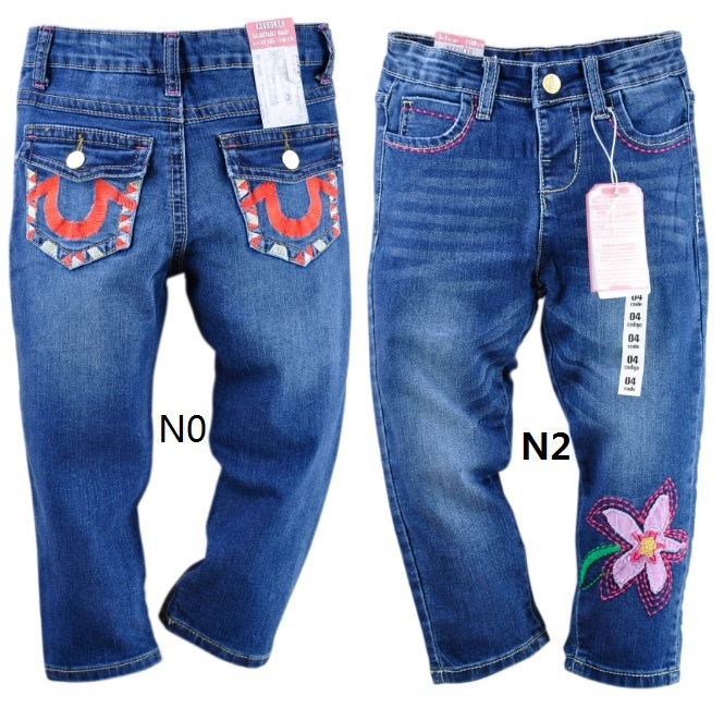 Wholesale Childrens Jean Pants Cheapest Gilrs Jeans Floral Girls Trousers TOP QUALITY <br><br>Aliexpress
