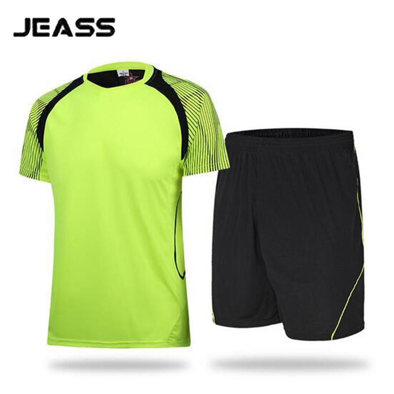 JEASS Men Football Jersey Custom Design Soccer Jersey Set Football Uniforms Kit for Running Training Tracksuit maillot de foot(China (Mainland))