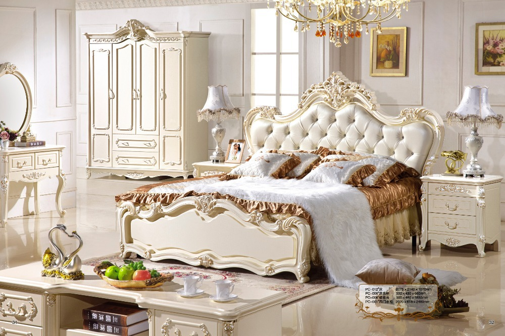 Antique Style French Furniture Elegant Bedroom Sets PC 011 In Beds