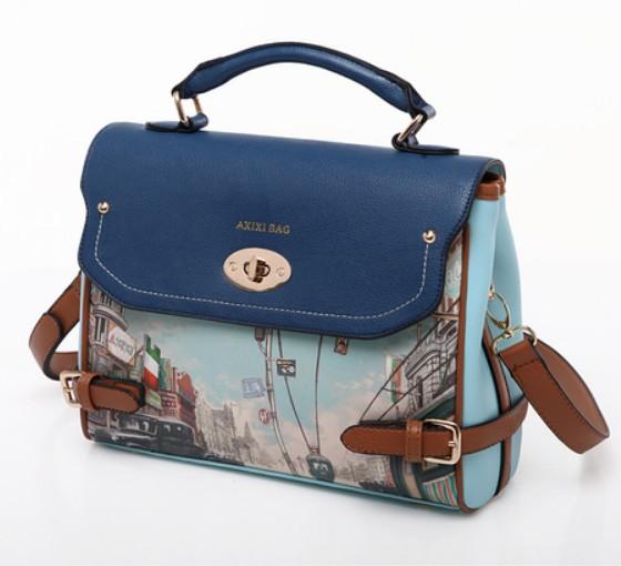 New 2014 vintage print bag, fashion handbag one shoulder cross-body womens handbag, brand desigh women leather handbags<br><br>Aliexpress