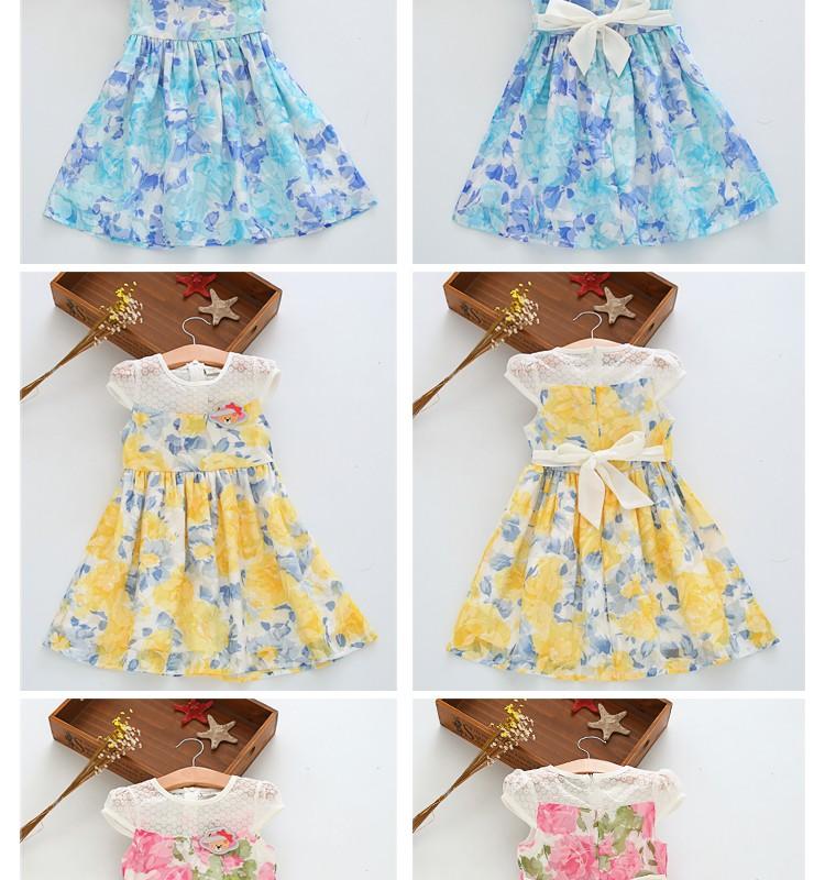 Скидки на Свадебные платья 2016 колен лето симпатичные отпечатано туту платье принцессы свадьба день рождения бальные платья для девочек 3 4 5 6 7 8 10 лет