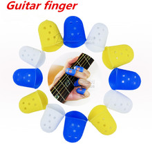 1 Pcs Guitar Finger Cover Guitar Left-Handed Anti-Pain Pouches Soft Handguard Beginner Steel String Perfect Match(China (Mainland))