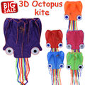 Outdoor Fun Sports Kite 5 5 m Octopus Shape Long Tails Large Beach Kites Kitesurf Pipas