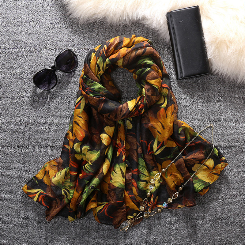 2016 Spring Flowers Design Women Scarf Wholesale Free Shipping Scarves Z-2307()