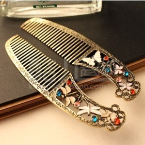 Europe and the United States trade dressing retro do old Dragonfly comb hair 211M(China (Mainland))