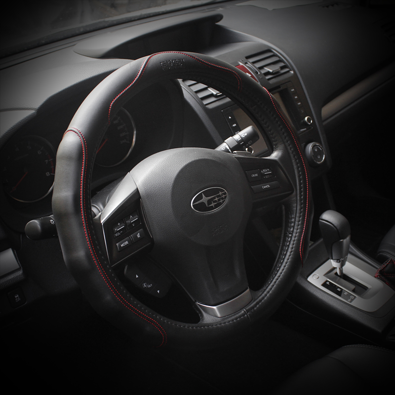 Qhcp SUBARU xv brz forester special steering wheel cover refires genuine leather - Online Store 231882 store