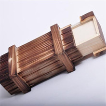 New Magic Wooden Puzzle Box Puzzle Wooden Secret Trick Intelligence Compartment Gift CX872407(China (Mainland))