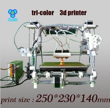He3D Tricolor2 3D printer Triple extruder bigger size DIY kit reprap