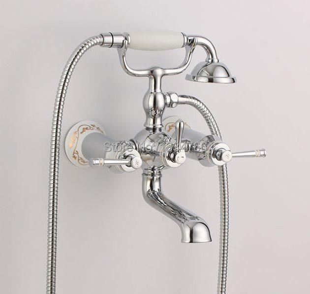 wall mounted bathtub faucets hand shower exposed tub mixer bath tub