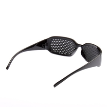 2014 New Black Unisex Vision Care Pin hole Eyeglasses pinhole Glasses Eye Exercise Eyesight Improve plastic