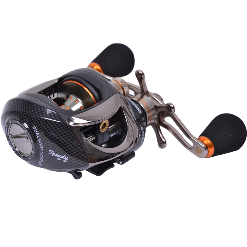 Fishing bait casting reels trulinoya left hand retrieve for Left handed fishing reels