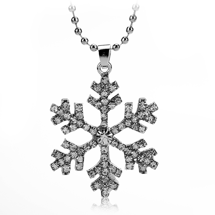2015 new fashion chain necklace female romantic beautiful Snow Queen Necklace Figaro chain accessories crystal necklace(China (Mainland))