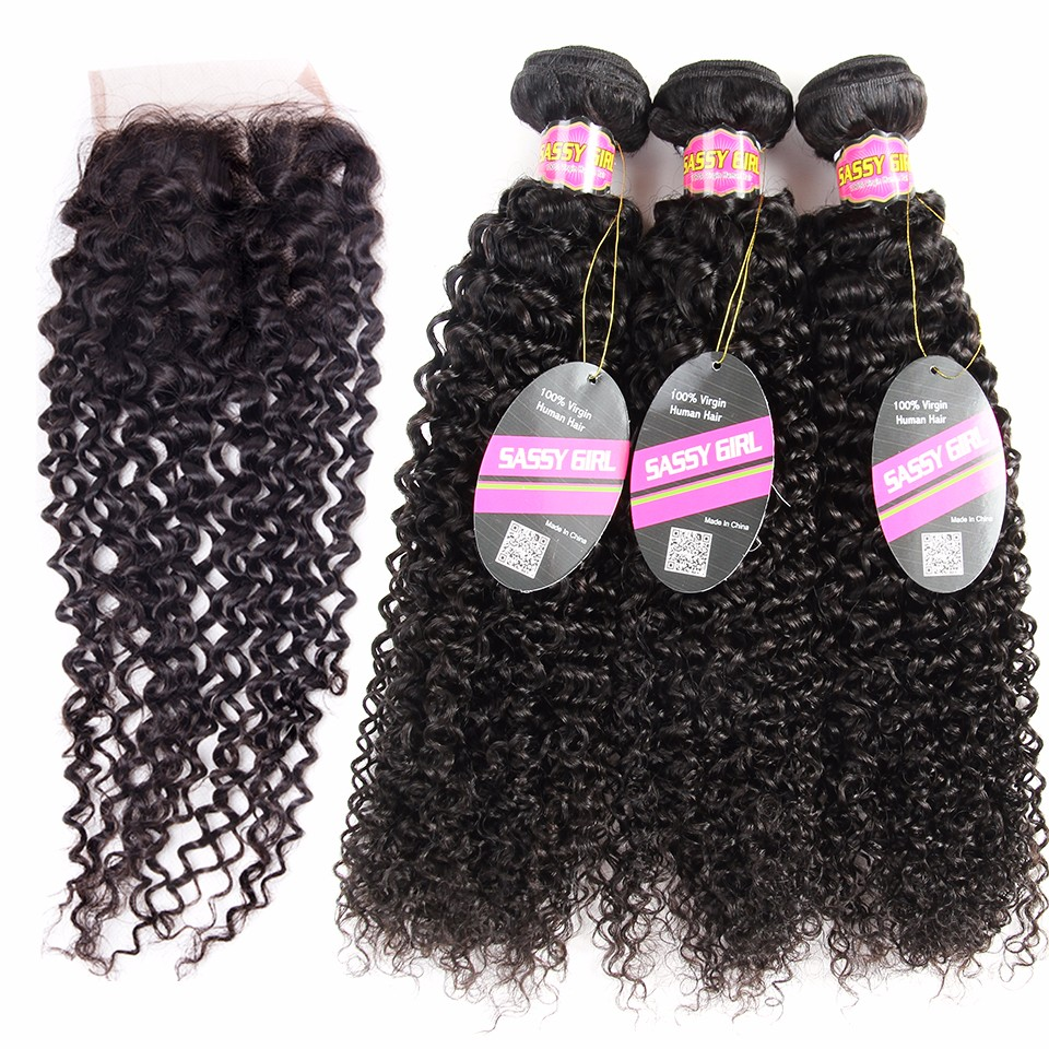 Brazilian Kinky Curly Virgin Hair With Closure Brazilian Afro Kinky Curly Hair With Closure Peerless Virgin Hair With Closure