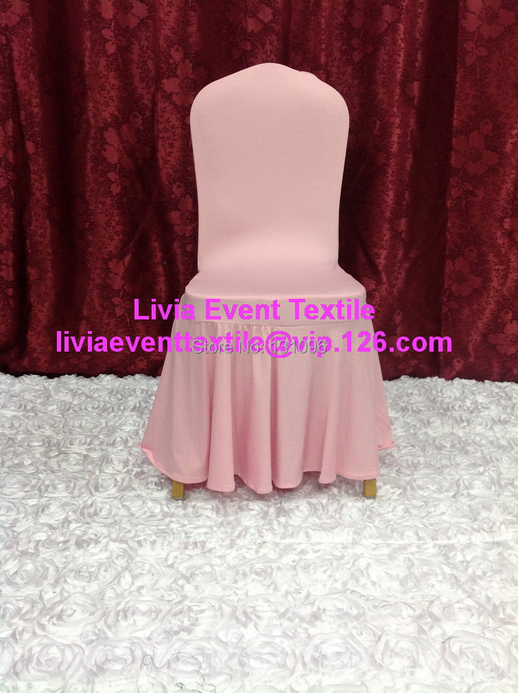 100pcs Extra Thicker #3 Baby Pink Large Skirting Lycra Chair Cover, Lycra Chair Cover for Wedding Events&Party Decoration(China (Mainland))
