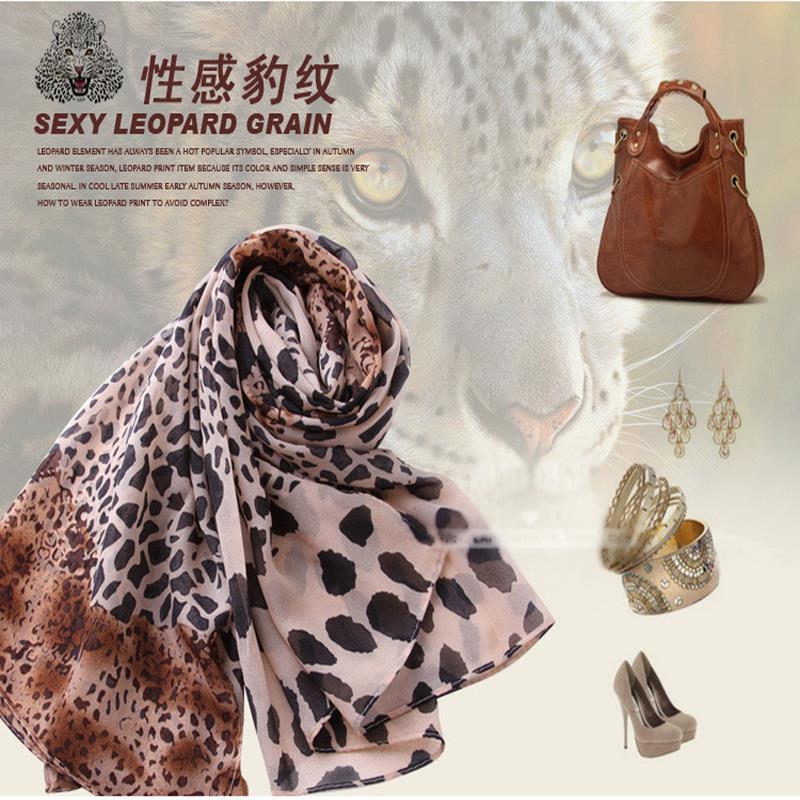 2016 hot sale silk cachecol scarf cashmere chiffon scarf animal print super star shawl leopard designer scarves and stoles