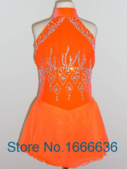 Hot Sales Custom Figure Skating Dresses For Women Elegant New Brand Vogue Ice Skating Dresses For Competition DR2884