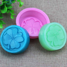 1Pcs Hot Alfalfa Shaped Silicone Mold clover letter Fondant Cake 3D soap Mould Bakeware Kitchen Soap Accessories Cooking Tools