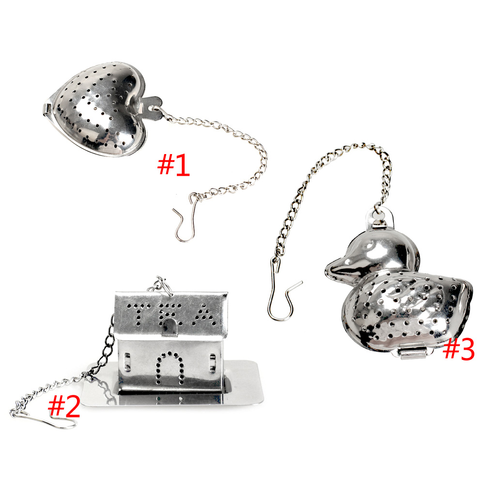 Hot Sale Silver Reusable Stainless Mesh Herbal Ball Tea Spice Strainer Teakettle Locking Tea Filter Infuser Spice 3 Types(China (Mainland))
