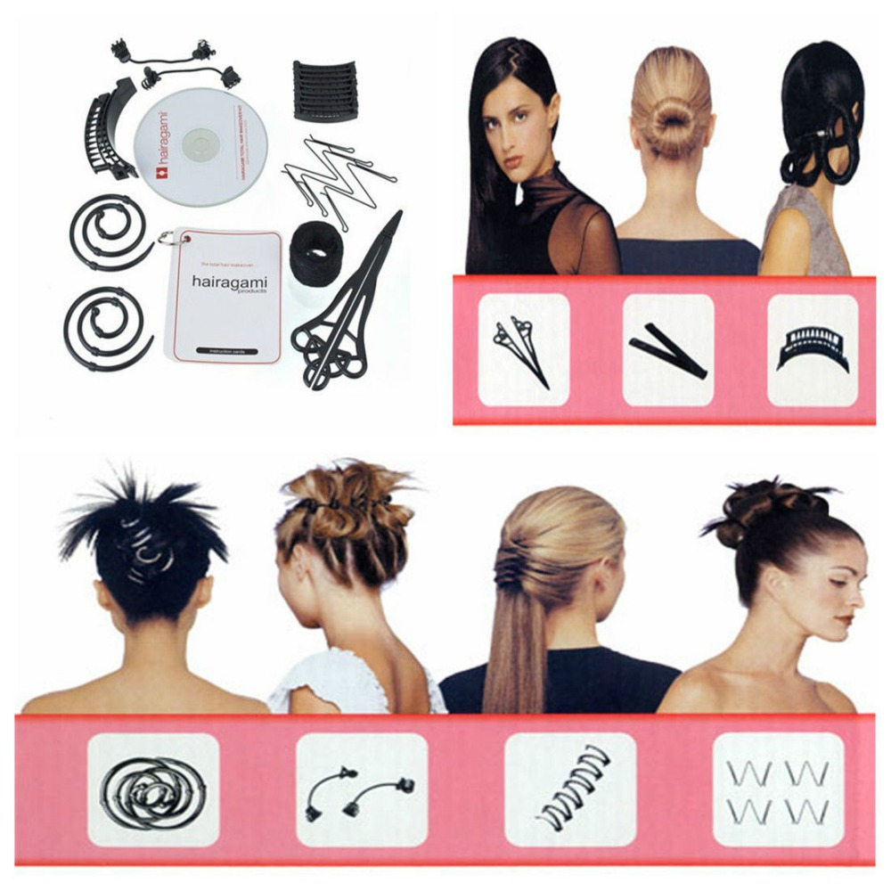 Beauty Salon Hairstyle Styling Total Hair Makeover Kit Sets Accessories Headwear for Women 8 Styles(China (Mainland))
