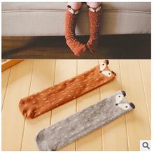 Mode haut 1 par unisexe bébé fille et garçon genou haute renard chaussettes enfants mignon chaussettes de dessin animé meias infantil(China (Mainland))