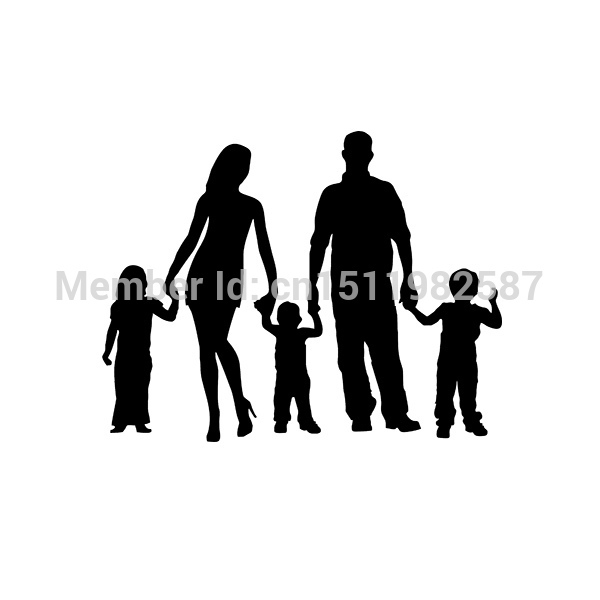 50 pcs/lot Stick Figure Family Car Stickers Truck Window Vinyl Decals For Auto SUV Funny JDM Laptop Mac Cool Graphics(China (Mainland))